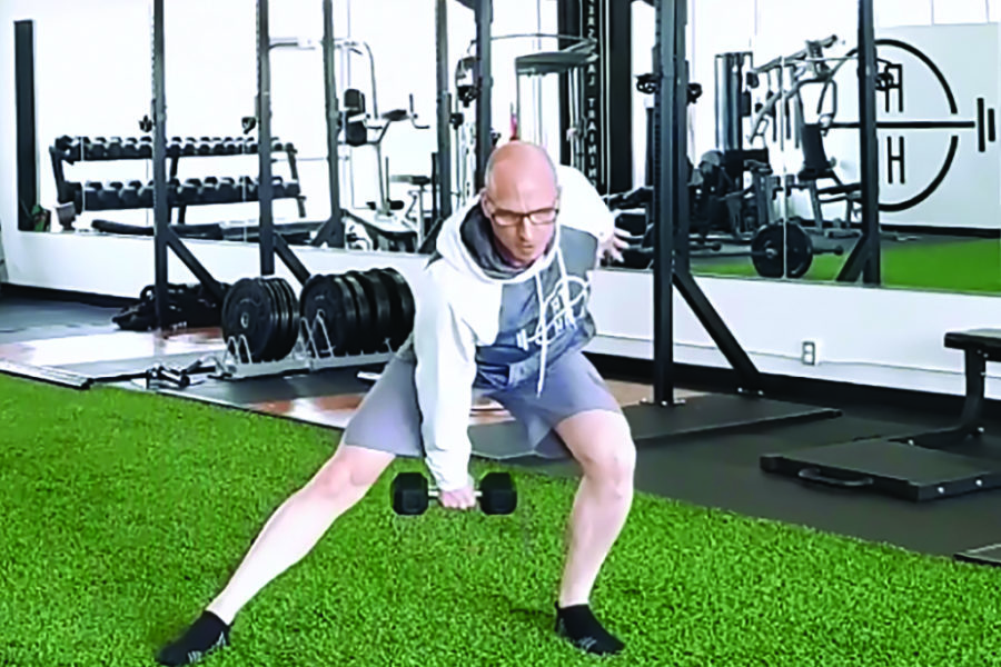 Movement of the Month: DB Multi-Planar Hip Thrust with Swing Switch